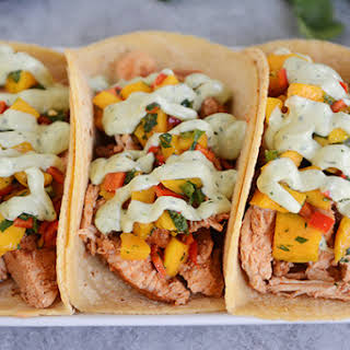 Chili Lime Tacos with Mango Salsa {Grilled or Pressure Cooker}.
