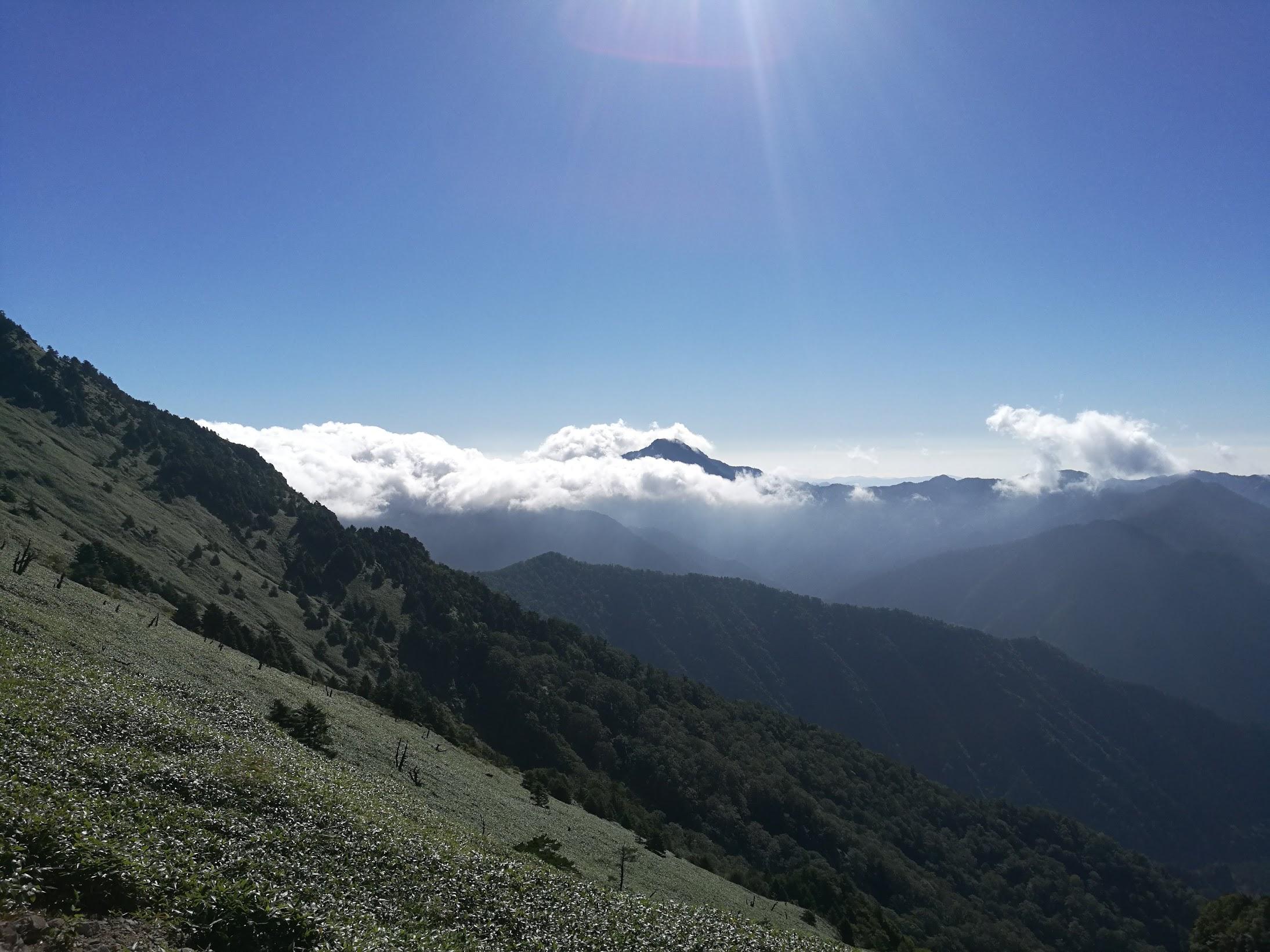 雲海の頭から石鎚山がぽっかりと?