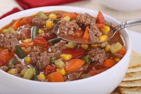 Quick Spanish Hamburger Soup Recipe