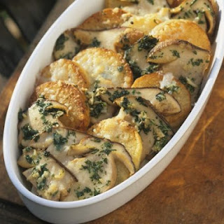 Mushroom and Potato Gratin.