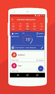 Salud y dieta - Podómetro & Entrenador de Peso: miniatura de captura de pantalla