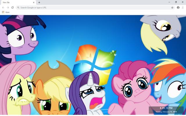 My Little Pony New Tab Theme