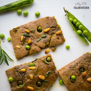 Italian Farinata Bread With Peas Gluten Free