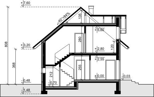 Dom przy Alabastrowej 5 - Przekrój