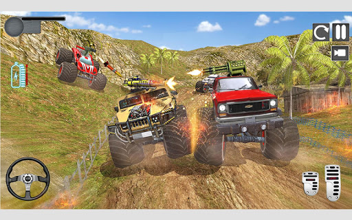 Monster Truck Shooting Race 2020: 3D Racing Games android2mod screenshots 9