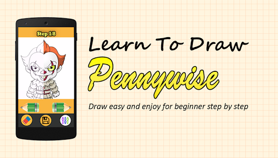 Learn to Draw Pennywise IT - náhled