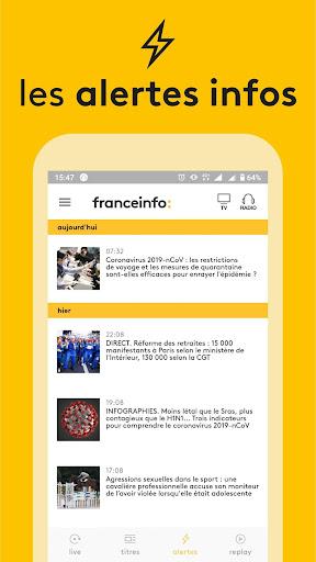 franceinfo : actualitu00e9s et info en direct Apk 2