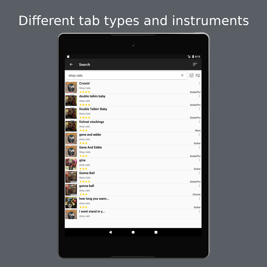 GuitarTab - Tabs and chords- screenshot