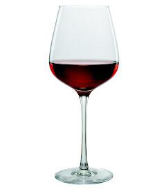 Et glass rødvin