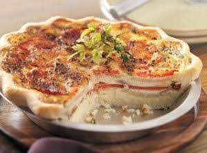 Tomato-onion Quiche Recipe