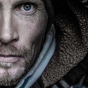 Confidence by Florin Marksteiner - People Portraits of Men ( hoodie, grunge, beard, man, blue eyes )