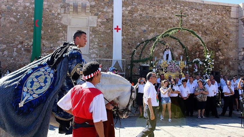 Relación de Moros y Cristianos en el Castillo de San Andrés y ante el Patrón, San Antonio de Padua.
