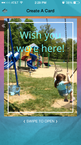 "Customize your SweetGreets greeting card with your own photos, text and video. It's a quick, easy and fun way to say ""Wish you were here!"" to friends and family near and far"
