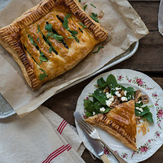 Garlicky Mushroom & Spinach Pies.