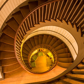 Stairs by Lynn Wiezycki - Buildings & Architecture Architectural Detail ( circular, ky, stairway, staircase, architectural, shaker village )