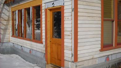 Photo: New door to hot tub room.