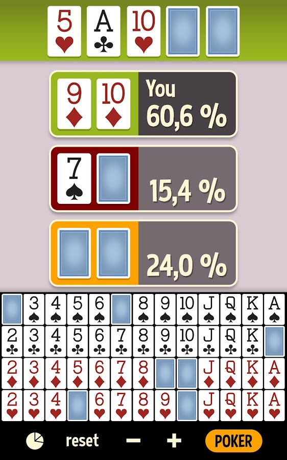 texas holdem odds calculator free