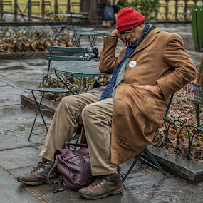 Man napping in the Park by Kevin Case - People Street & Candids ( asleep, kevin case, park, tired, canon photography, nyc, sleeping, napping, kevdia, photography, man, street photography )