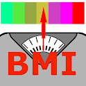 Weight tracker with BMI calculator icon