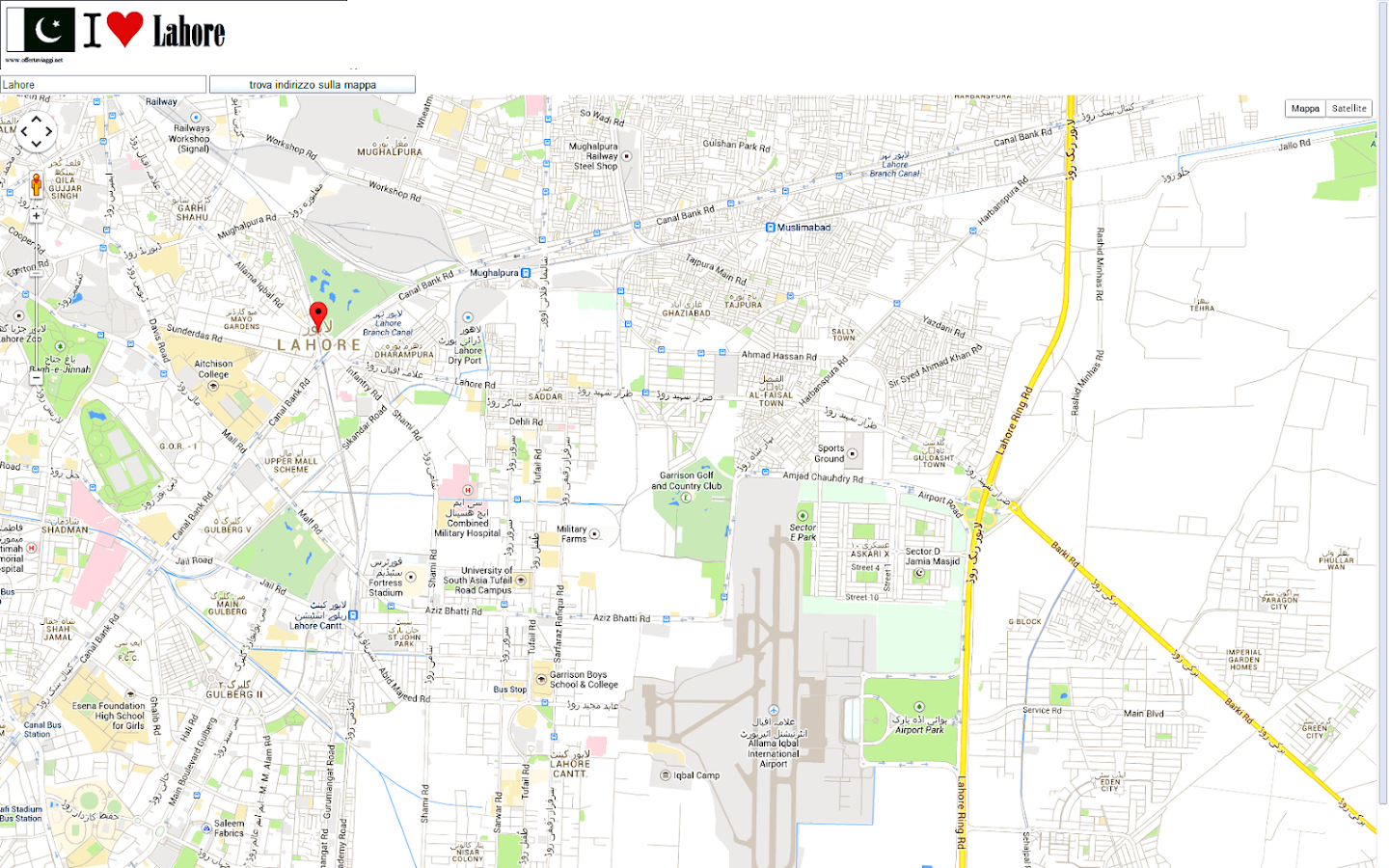 lahore map  android apps on google play - lahore map screenshot