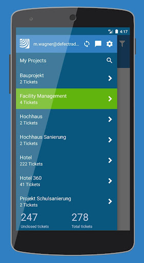 PlanRadar construction app screenshot 1