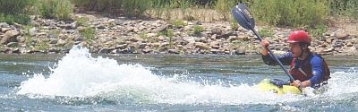 Photo: Surfing at Gremlin Wave, SF American River.