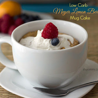 Low Carb Meyer Lemon Mug Cake.