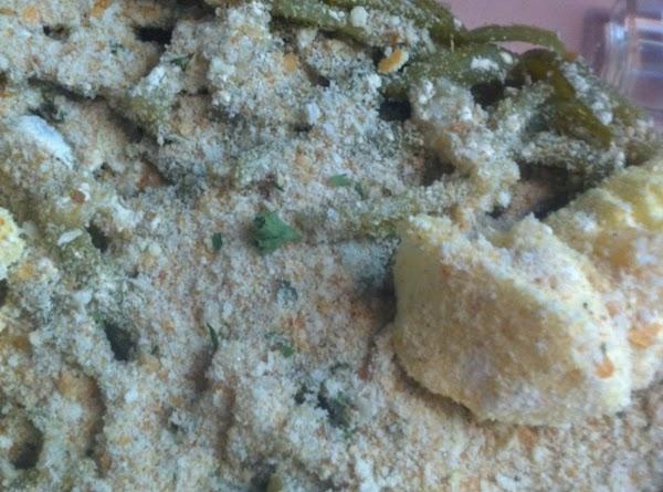 Sprinkle with  Complete Seasoning and Seasoned italian bread crumbs