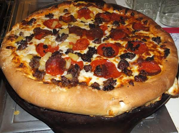 This Pizza May Look Different And That Is Because It Is Stuffed Crust