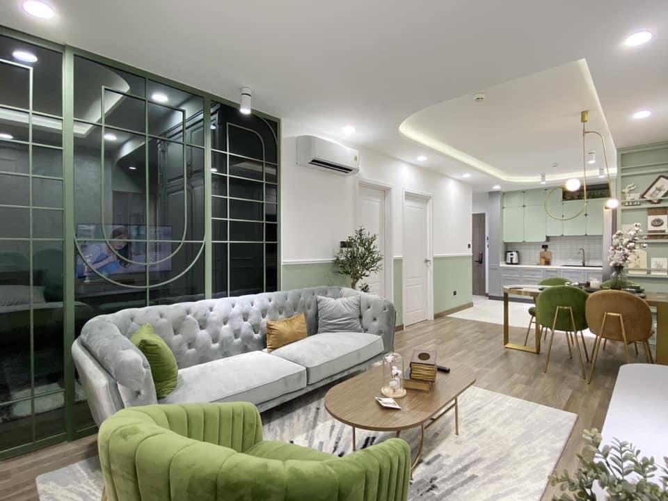 Mẫu thiết kế nội thất cho những gia chủ yêu màu xanh - Ảnh 1