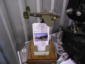 Photo: B-25 replica, along with SCHAF literature