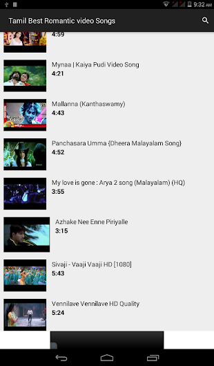 Tamil Romantic video Songs website - free download  apk for android