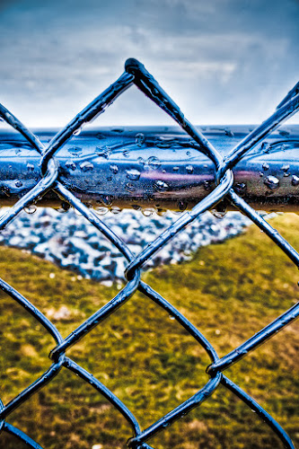 HDR Fence by Ben Porway - Digital Art Things ( fence, hdr, nature )