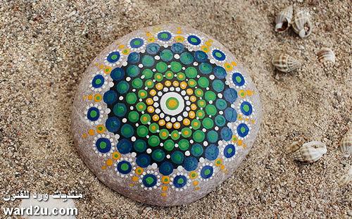 ماندالا على الصخور خطوات و نماذج مصورة