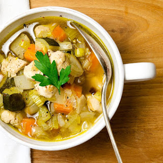 Homemade Chicken Vegetable Soup.