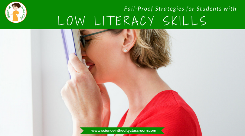 A description of strategies that content teachers can use when faced with struggling readers