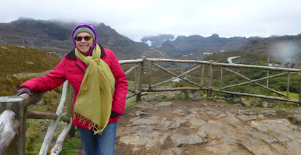 Photo: Sheila at the Tres Cruces viewpoint