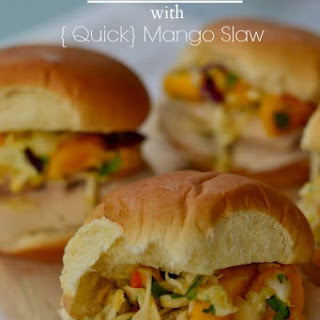 Chicken Sliders with Mango Slaw