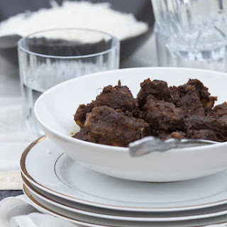 Spicy Beef Curry with whole spices.