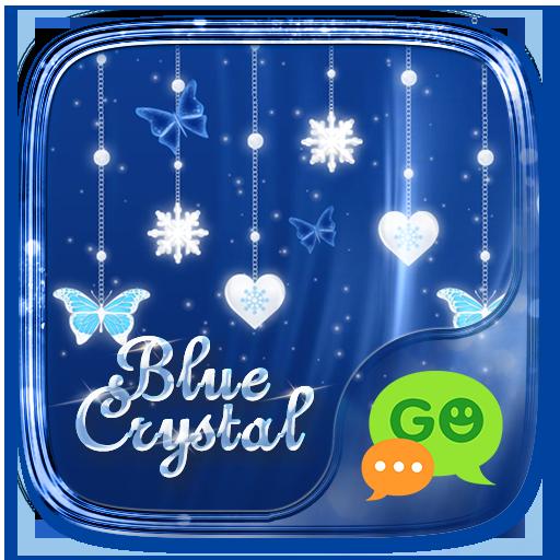 (FREE) GO SMS BLUE CRYSTAL THEME