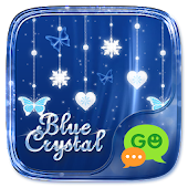 (FREE) GO SMS BLUE CRYSTAL THEME