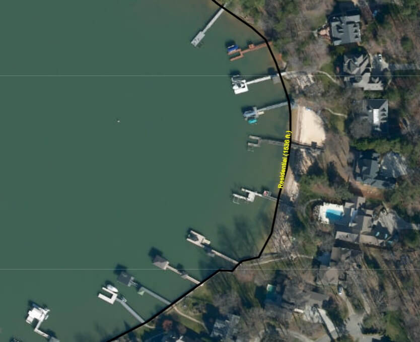 shoreline classification lake norman waterfront home