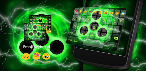 Hot Fidget Spinner Theme for Android keyboard, get neon spinner on your keyboard
