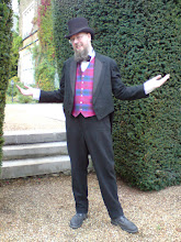 Photo: Yes I looked like a magician. This is my suit from 1900 plus Lindsay tartan silk waistcoat, and dickie bow tie.