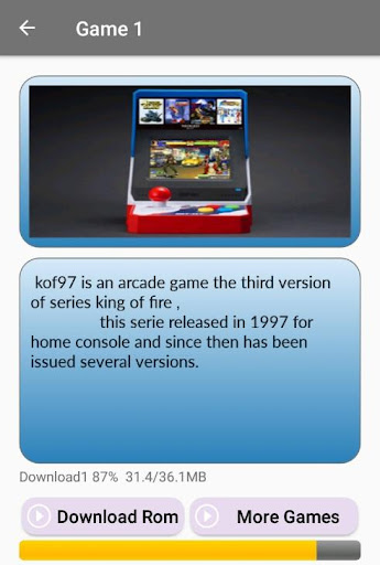 Arcade games : King of emulators 1.0 screenshots 3