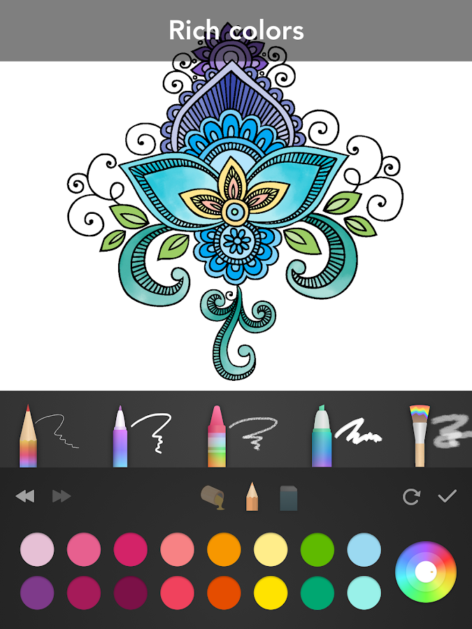 Ipad Coloring Book Le Pencil : Mandala coloring book android apps on google play