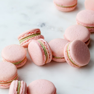 Matcha Raspberry French Macarons