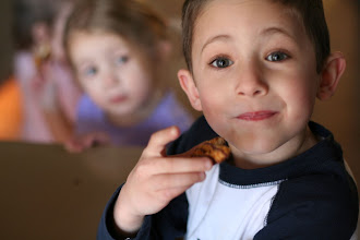 Photo: Delicious Girl Scout Cookies - Emmy is just waiting for Reed to drop it