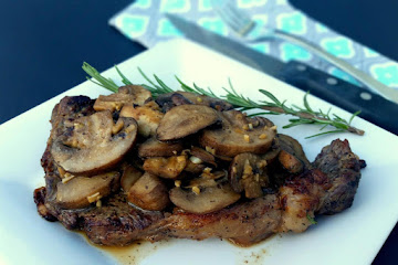 Rib Eye Steak With Sauteed Mushrooms Recipe