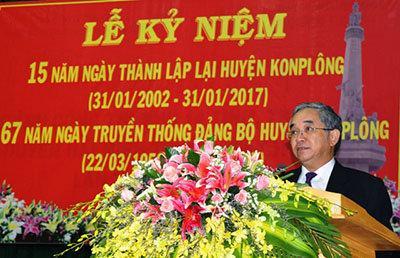 Công an huyện Kon Plông: đảm bảo an ninh trật tự Lễ kỷ niệm 15 năm ngày thành lập lại huyện Kon Plông và 67 năm ngày truyền thống Đảng bộ huyện